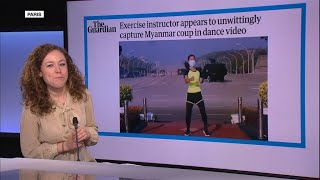 'Exercise instructor appears to unwittingly capture Myanmar coup'
