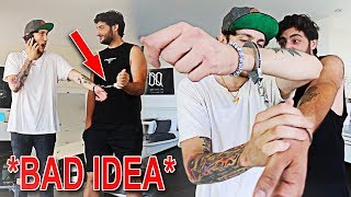 HANDCUFFING MYSELF TO FAZE BANKS (BAD IDEA)