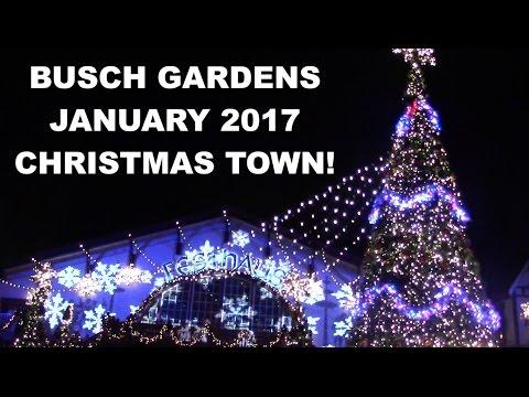 Busch Gardens Williamsburg Christmas Town 2017 Park Footage