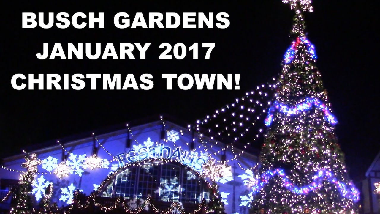 busch gardens williamsburg christmas town 2017 park footage