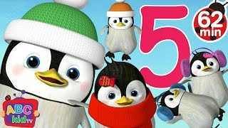 Five Little Penguins Jumping on the Bed | +More Nursery Rhymes & Kids Songs - CoCoMelon