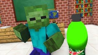 Monster School : BOTTLE CAP CHALLENGE - Minecraft Animation