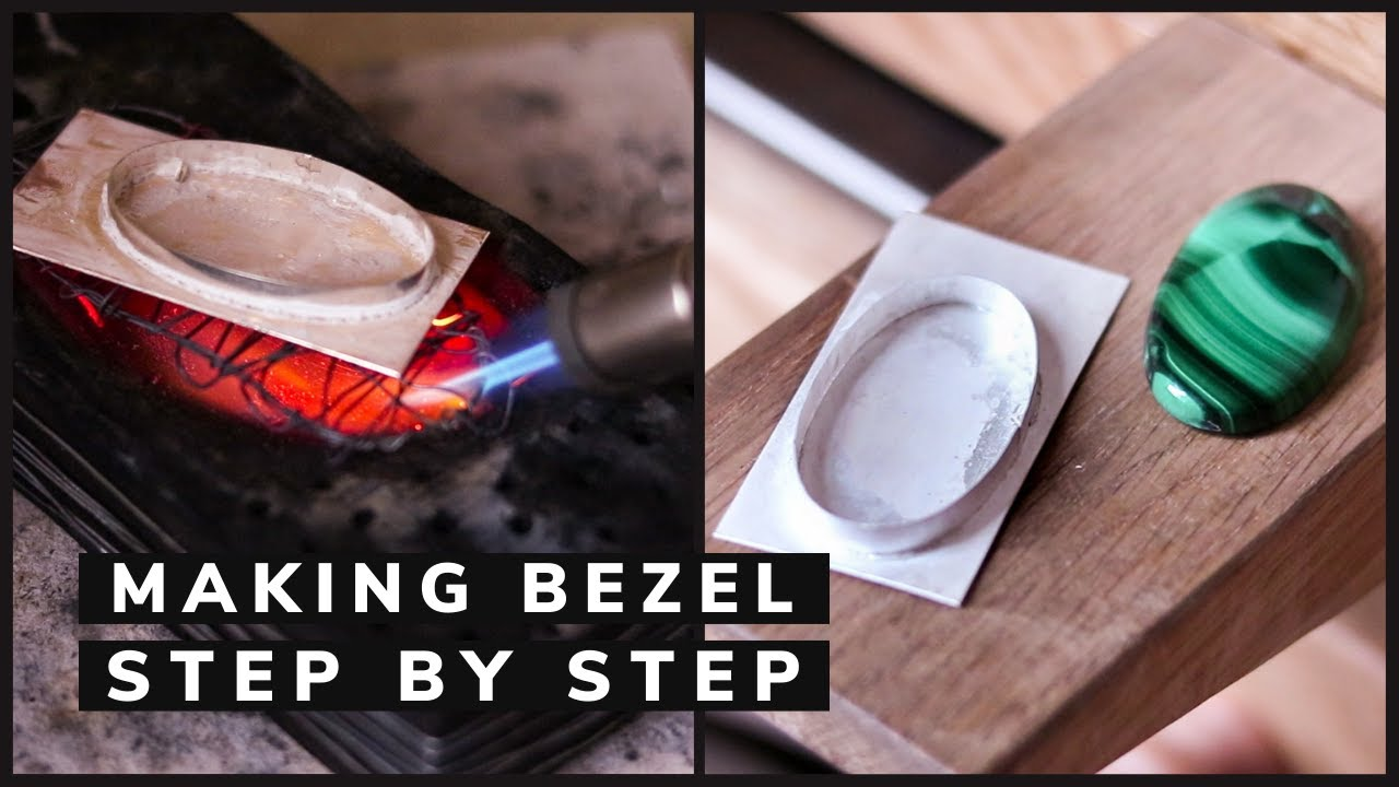 SILVER BEZEL for cabochon STEP BY STEP with list of tools. How to make a bezel setting.