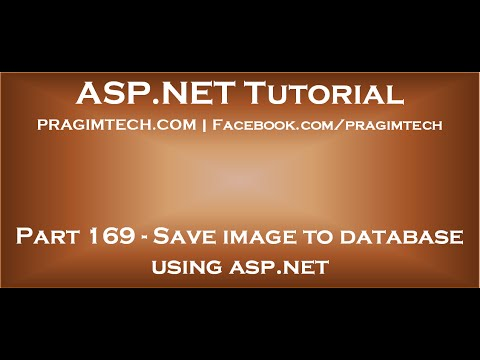 Save image to database using asp net