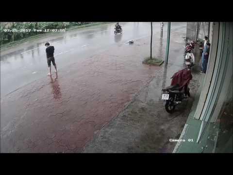Pissing in the rain