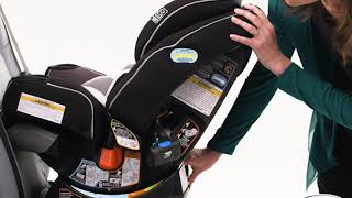 Rear-Facing EZ Tight™ LATCH Installation - Graco® 4Ever® Extend2Fit® Platinum