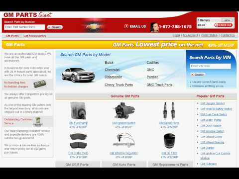 Gm Parts Giant >> How To Use Gmpartsgiant Com Youtube
