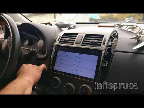 Лучшая 2 Din Магнитола для Toyota Corolla Android Штатная Тойота Королла 2din Головное устройство