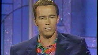 Arnold Schwarzenegger on the Arsenio Hall Show 1992 Terminator 2