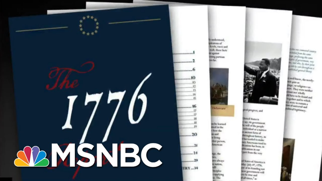 Trump defends America's founding on slavery with '1776 report'