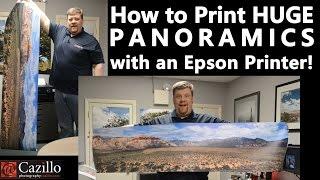 How to Print HUGE PANORAMICS with an Epson Printer!