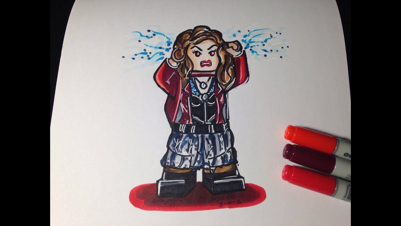 How To Draw The Avengers Age Of Ultron Scarlet Witch Lego