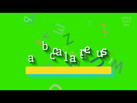"How to say ""baccalaureus""! (High Quality Voices)"