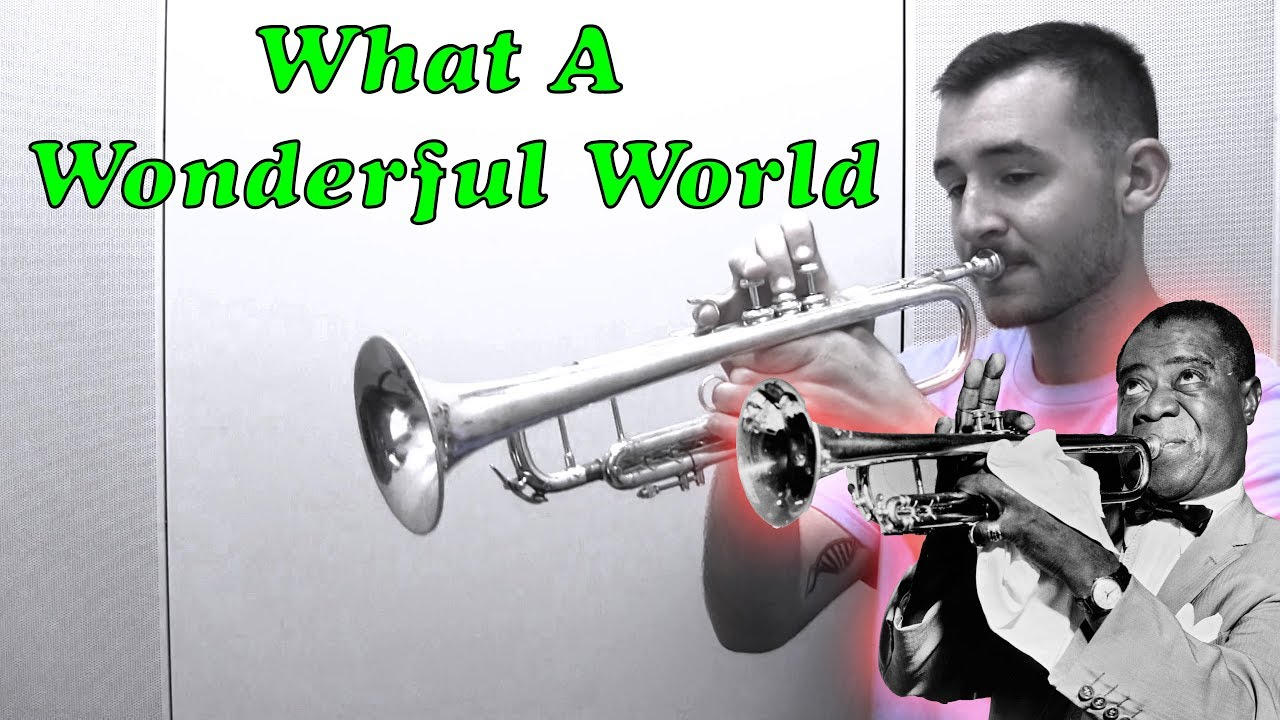 Trumpet Guy What A Wonderful World Sheet Music Trumpet Solo In G Major Download Print Sku Mn0202041