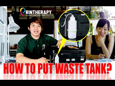 BROTHER DCP-T310W, T710W, T510W SERIES, HOW TO PUT WASTE INK TANK
