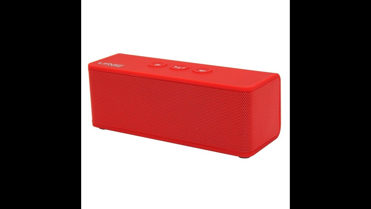 Urge Basics SoundBrick Plus NFC Ultra Portable Wireless Stereo Bluetooth Speaker