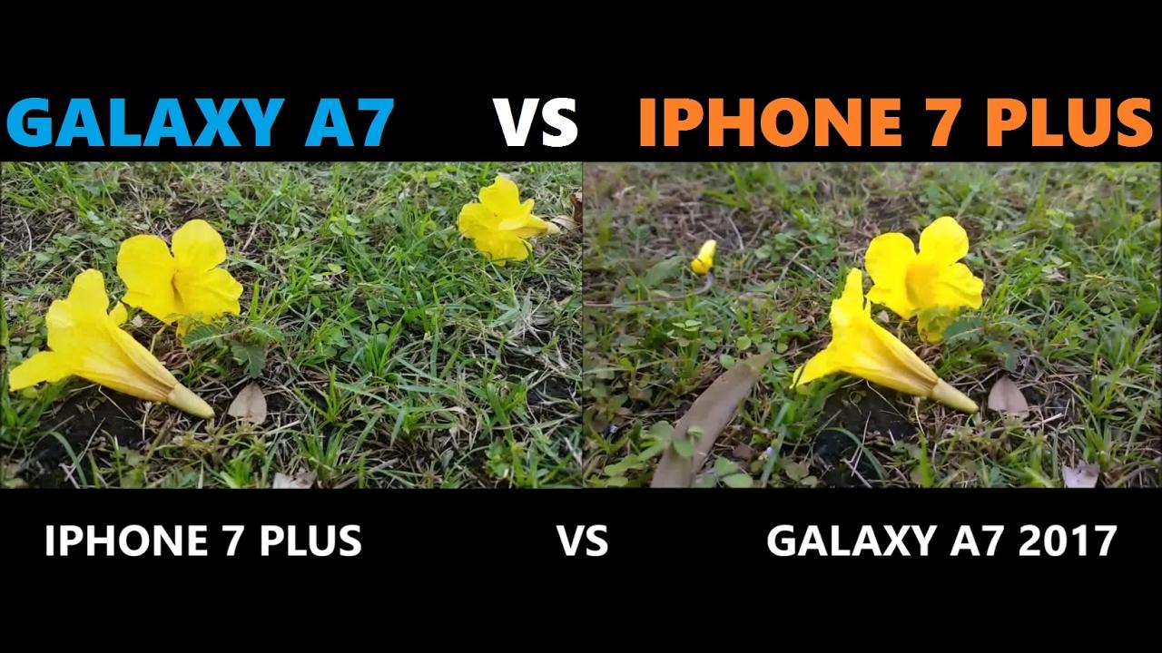 galaxy a7 2017 vs iphone 7 plus camera test youtube. Black Bedroom Furniture Sets. Home Design Ideas