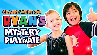 CLAIRE WENT ON RYAN'S MYSTERY PLAYDATE!! (NICKELODEON SHOW)
