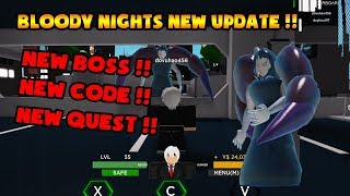 ROBLOX | NEW CODE!! THE TERRIBLE BLOODY NIGHTS UPDATE OF ADMIN!!