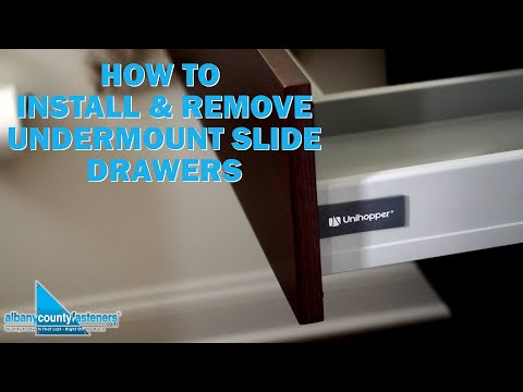 How to Install & Remove Undermount Slide Drawers - Unihopper | DIY Home Improvement