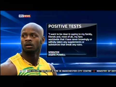 Asafa Powell and Tyson Gay test positive for banned drugs