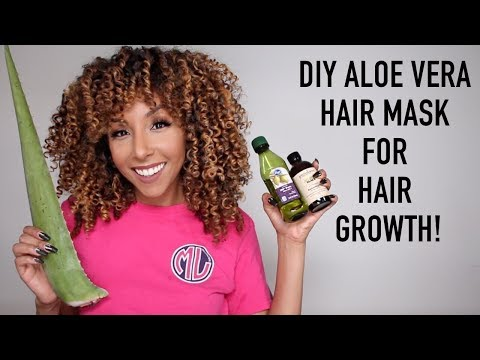 DIY Aloe Vera Hair Mask For Hair Growth! | BiancaReneeToday
