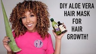 DIY Aloe Vera Hair Mask For Hair Growth! | BiancaReneeToday