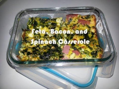 FGSW - Breakfast Casserole Recipe: Spinach, Feta, & Turkey Bacon