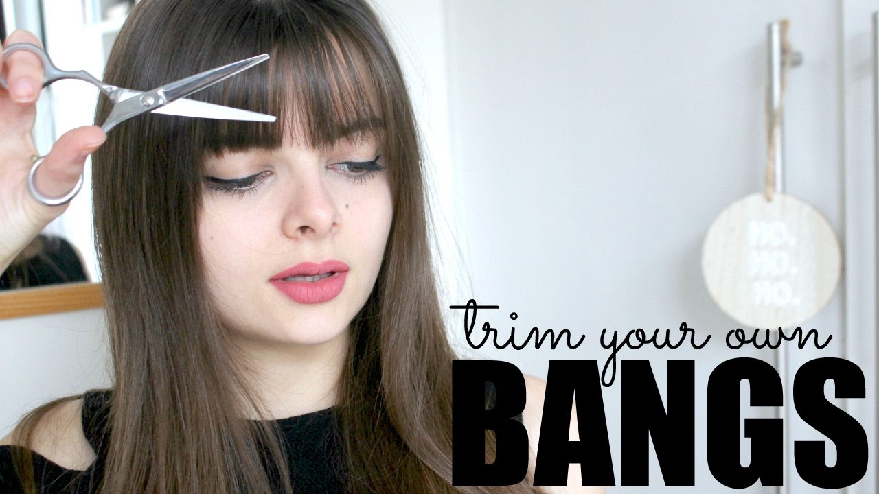 How To Trim Your Own Bangs Youtube