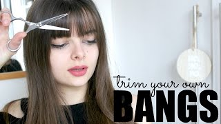How To Trim Your Own Bangs thumbnail