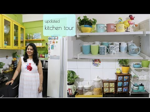 My Updated Indian Small Kitchen Tour | Countertop, Cabinet & Storage Organization Ideas | Maitreyee