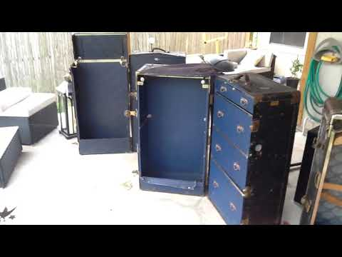 Steamer trunk wardrobes