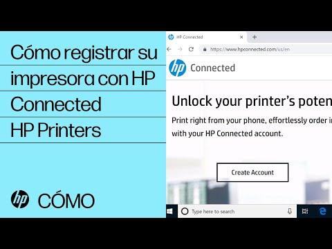 Cómo registrar su impresora con HP Connected | HP Printers | HP