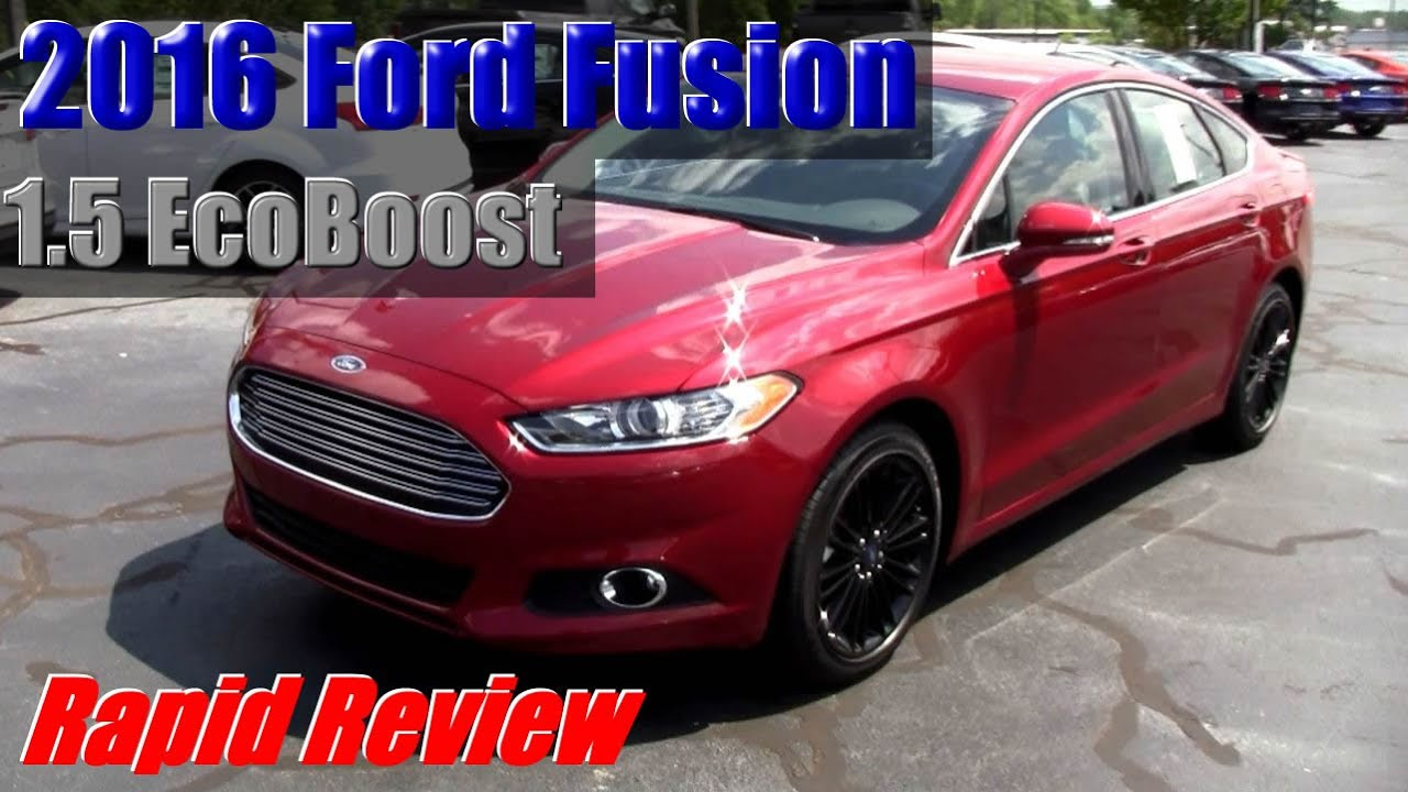 2016 ford fusion ecoboost youtube. Black Bedroom Furniture Sets. Home Design Ideas