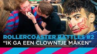 Nesim krijgt lippenstift op in de achtbaan! – Rollercoaster Battles #2 | SLAM!