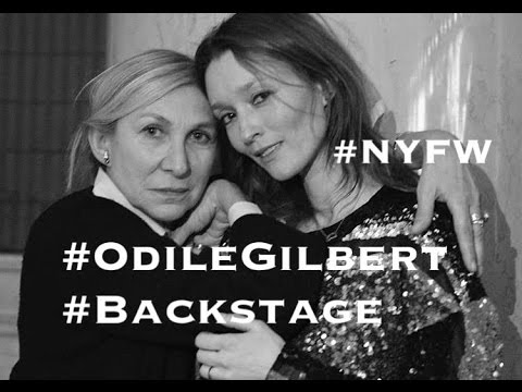 NYFW, VLOG. Come With Me and Odile Gilbert backstage in New York for the fashion shows.