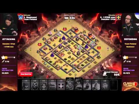 BEST 5 ATTACKS/DEFENSES CLASHCON - CLASH OF CLANS 2015