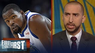 Nick Wright thinks Kevin Durant going to the Knicks is a realistic option | NBA | FIRST THINGS FIRST