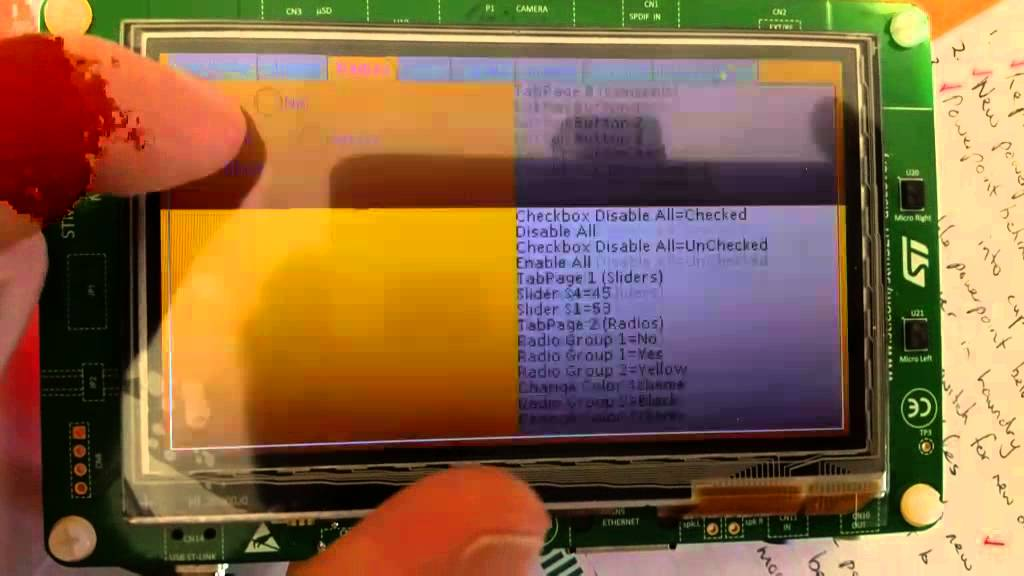 STM32F746 Discovery UGFX Demo 1 by inmarket