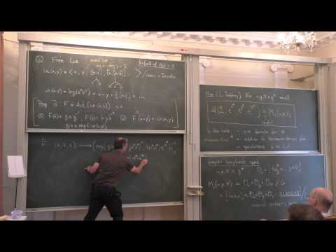 Anton Alekseev - Moduli spaces of flat connections and free Lie algebras