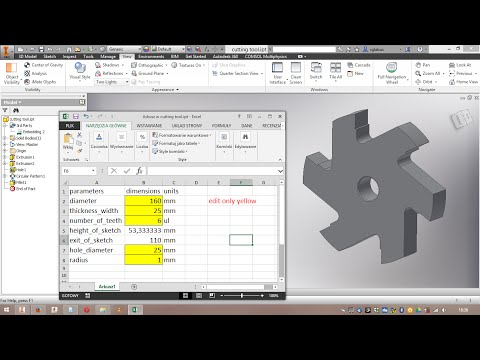 Autodesk Inventor linked with Microsoft Excel