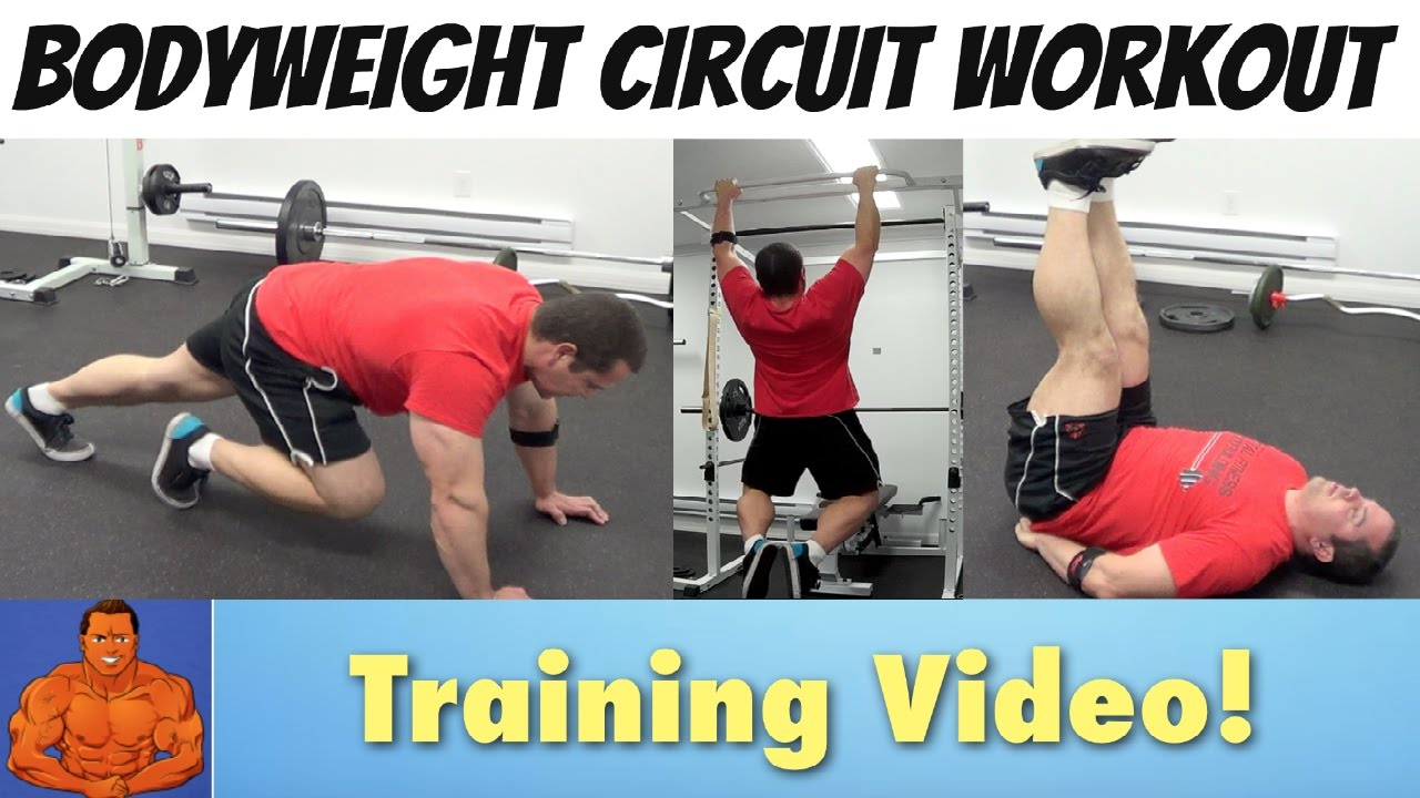 Bodyweight Circuit Routine for Building Muscle at Home ...