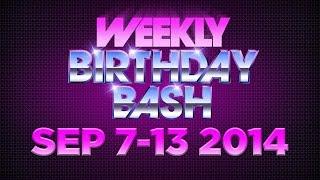 Celebrity Actor Birthdays - September 7-13, 2014 HD
