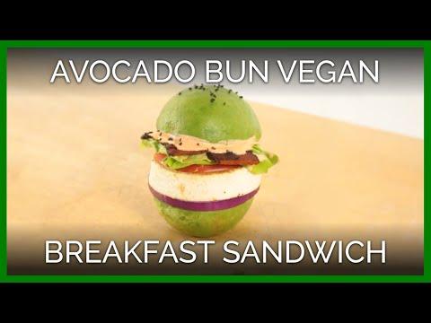 Avocado Bun Vegan Breakfast Sandwich | Vegan Recipe
