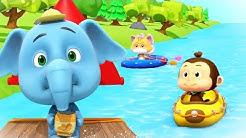 joki juosta | Sarjakuvat lapsille | Hauskaa Loco-pähkinöillä | River Run | Loco Nuts | Kids Cartoons