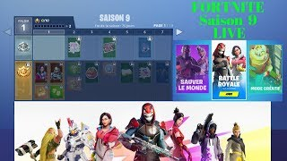 "FORTNITE Season 9 ""Discovery of the New Season - Buying the Combat Pass"" live"