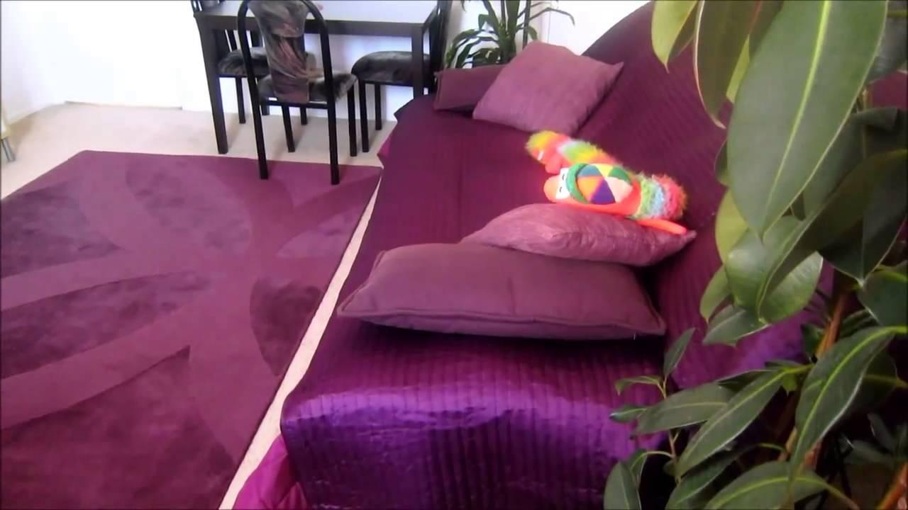 Id es pour d corer une chambre avec la couleur pourpre youtube - Reactie peindre une chambre avec couleurs ...