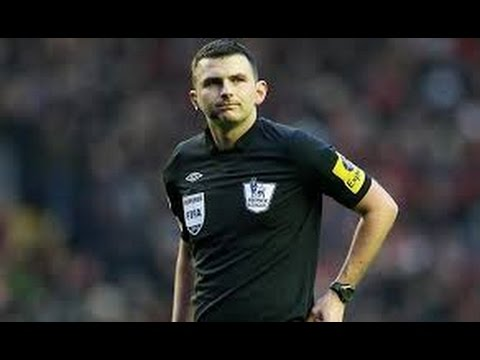 SHOCKING MISS - Referee Michael Oliver misses an open net in a charity game