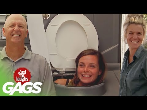 Best Public Toilet Pranks - Best Of Just For Laughs Gags
