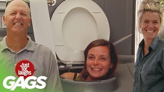Best Public Toilet Pranks  Best of Just for Laughs Gags